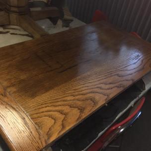 Refinished Pedestal Table Leaf
