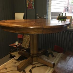 Refinished Pedestal Table